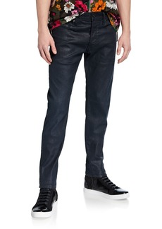 G Star Raw Denim Men's 3301 Coated Slim-Leg Jeans
