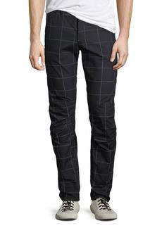 G Star Raw Denim Men's 3D Tapered Grid-Print Pants