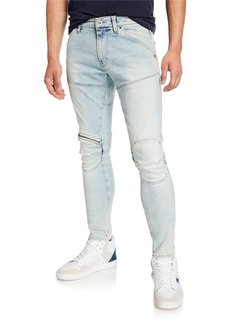 G Star Raw Denim Men's 5620 Zip-Trim Skinny Jeans - Elto Light