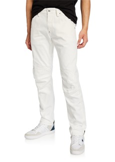 G Star Raw Denim Men's 5622 Zip-Trim Skinny Jeans  White
