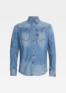 G Star Raw Denim Men's Arc 3D Long Sleeve Slim Shirt