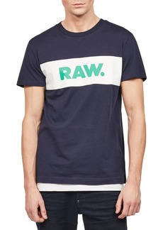 G Star Raw Denim Men's Bellar Logo Graphic T-Shirt