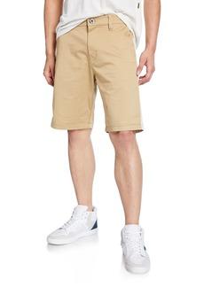 G Star Raw Denim Men's Bornson Straight-Leg Twill Shorts