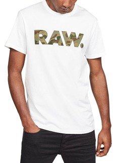 G Star Raw Denim Men's Camo Logo Typographic T-Shirt