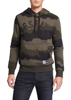 G Star Raw Denim Men's Camo-Print Logo Hoodie Sweatshirt