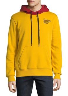 G Star Raw Denim Men's Core Uniform of the Free Two-Tone Hooded Sweatshirt