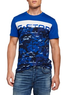 G Star Raw Denim Men's Graphic 14 Camouflage Logo T-Shirt