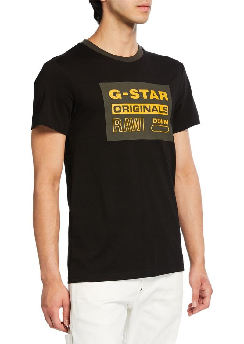 G Star Raw Denim Men's Graphic 8 T-Shirt