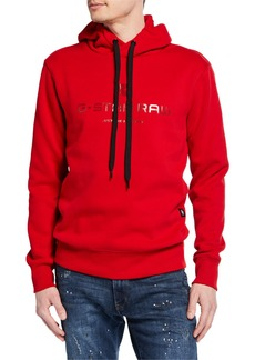 G Star Raw Denim Men's Logo Graphic Pullover Hoodie