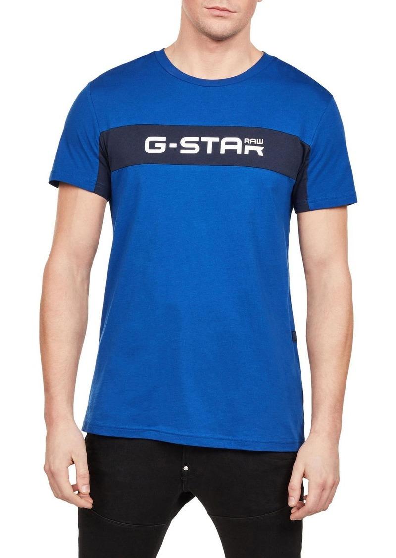 G Star Raw Denim Men's Logo Typographic T-Shirt