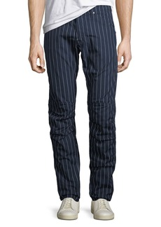 G Star Raw Denim Men's Pinstriped Tapered Cotton Pants