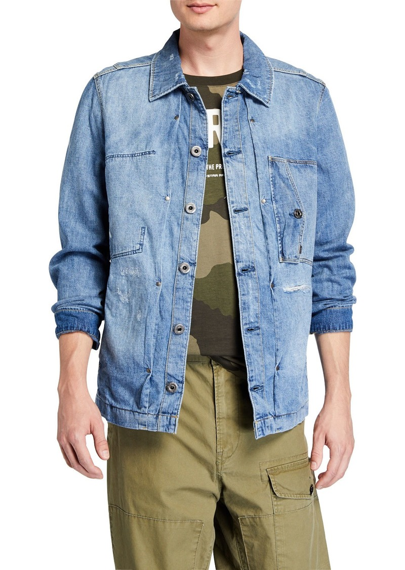 G Star Raw Denim Men's Scutar Utility Denim Overshirt