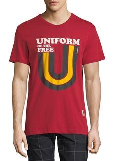 G Star Raw Denim Men's Uniform of the Free Graphic T-shirt