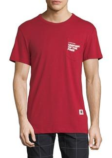 G Star Raw Denim Men's Uniform of the Free Pocket T-Shirt  Red