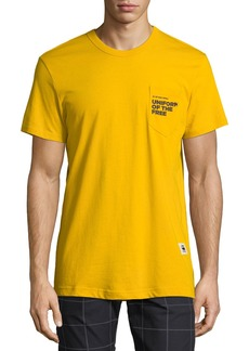 G Star Raw Denim Men's Uniform of the Free Pocket T-Shirt  Yellow
