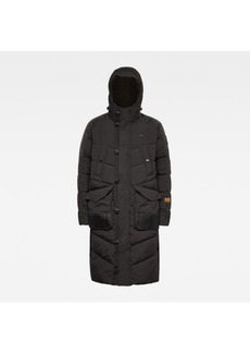 G Star Raw Denim Men's Utility Quilted Hooded Extra Long Parka