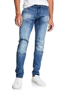 G Star Raw Denim Men's Zip Knee Skinny Denim Jeans