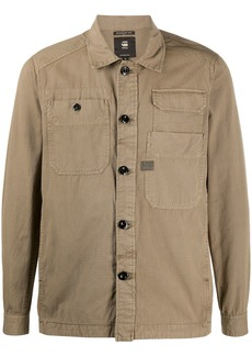 G Star Raw Denim multi-pocket shirt jacket