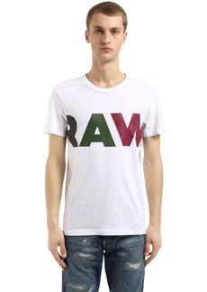G Star Raw Denim Noct Printed Cotton Jersey T-shirt
