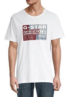 G Star Raw Denim Originals Flock Logo T-Shirt