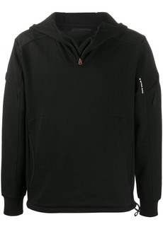 G Star Raw Denim panelled hooded sweatshirt
