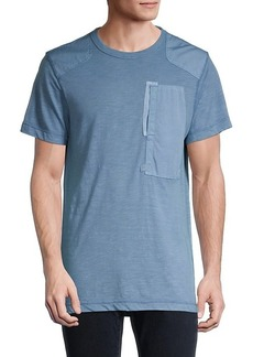 G Star Raw Denim Patched Cotton-Blend Tee