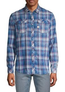 G Star Raw Denim Plaid Long-Sleeve Button-Down Shirt