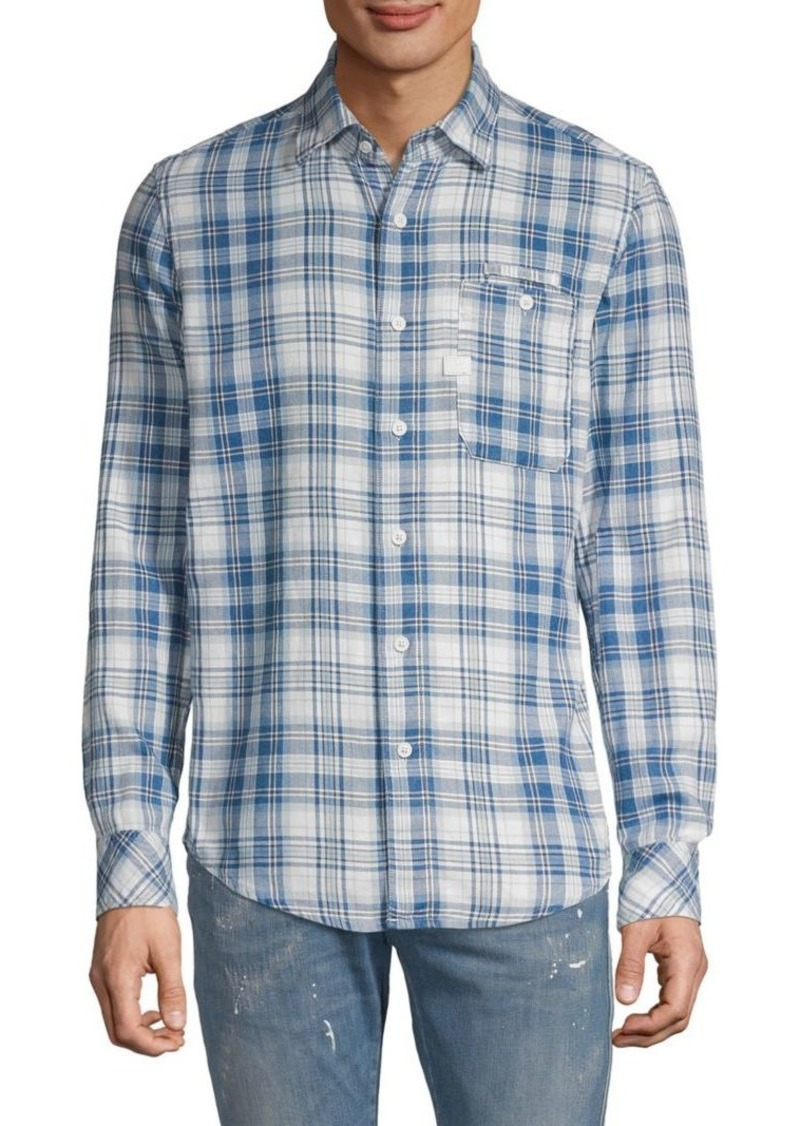 G Star Raw Denim Plaid Long-Sleeve Shirt