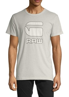 G Star Raw Denim Printed Cotton Blend Tee