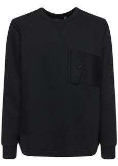 G Star Raw Denim Printed Crewneck Sweatshirt W/ Pocket