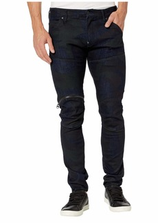 G Star Raw Denim Rackam DC Skinny Jeans in Rinsed/Asfalt All Over