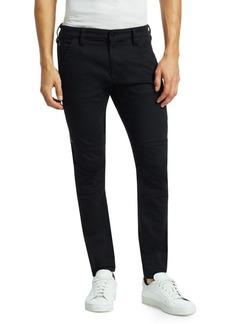 G Star Raw Denim Rackam Paneled Zip Skinny Jeans