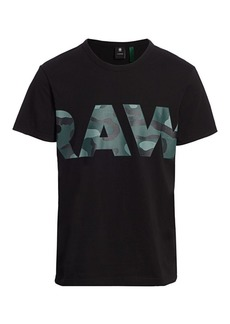 G Star Raw Denim Raw Camo Logo Tee