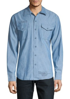 G Star Raw Denim Raw Utility Button-Down Shirt