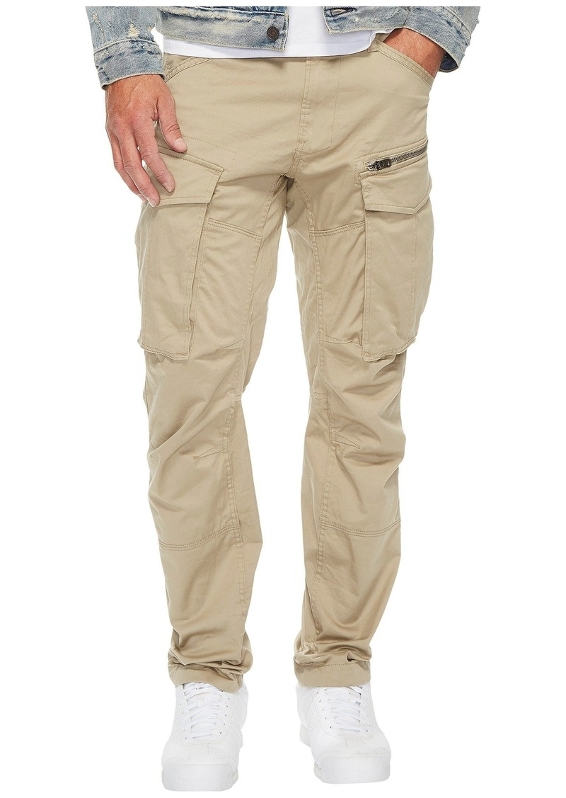 G Star Raw Denim Rovic Zip 3D Tapered Fit Pants in Premium Micro Stretch Twill Dune