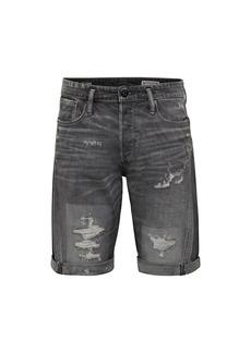 G Star Raw Denim Scutar 3D Distressed Denim Shorts