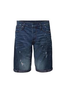 G Star Raw Denim Scutar 3D Paint-Splatter Distressed Denim Shorts