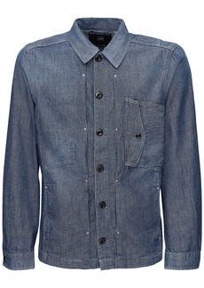 G Star Raw Denim Scutar Cotton Denim Over Shirt