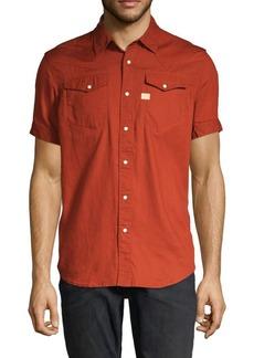 G Star Raw Denim Short-Sleeve Button-Down Shirt