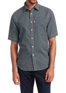 G Star Raw Denim Short-Sleeve Houndstooth Button-Down Shirt