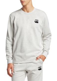 G Star Raw Denim Side Panel Logo Sweatshirt