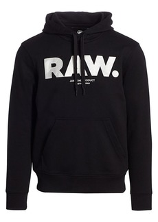 G Star Raw Denim Silver Accent Organic Cotton Hoodie