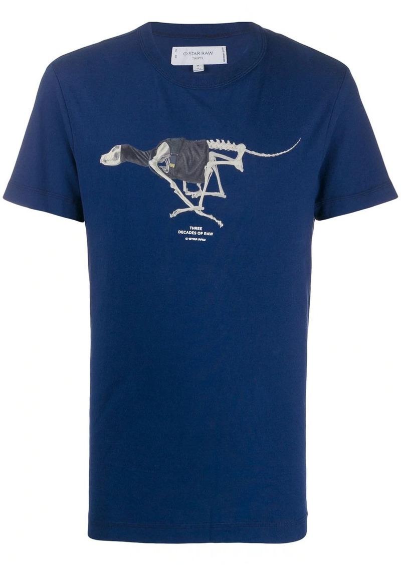 G Star Raw Denim skeleton print T-shirt