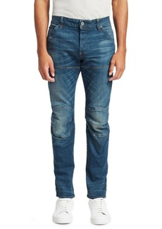 G Star Raw Denim Skinny-Fit Whiskered Jeans