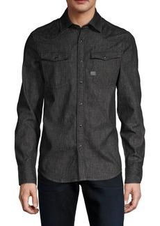 G Star Raw Denim Slim-Fit Long-Sleeve Shirt