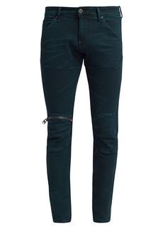 G Star Raw Denim Slim-Fit Zip Knee Jeans