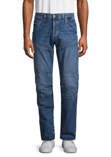 G Star Raw Denim Straight Tapered Moto Jeans