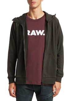 G Star Raw Denim Stretch Zip-Front Hoodie