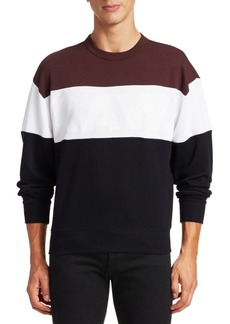 G Star Raw Denim Stripe Sweatshirt
