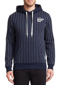 G Star Raw Denim Striped Cotton Hooded Sweatshirt